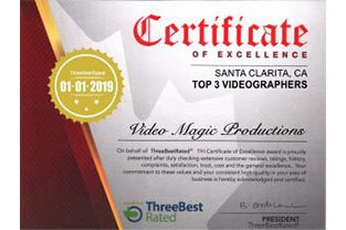 Santa Clarita Certificate Of Excellence