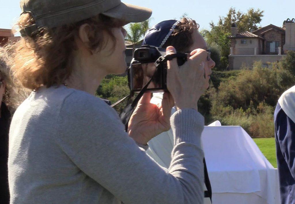 Bonnie Keith taking photos